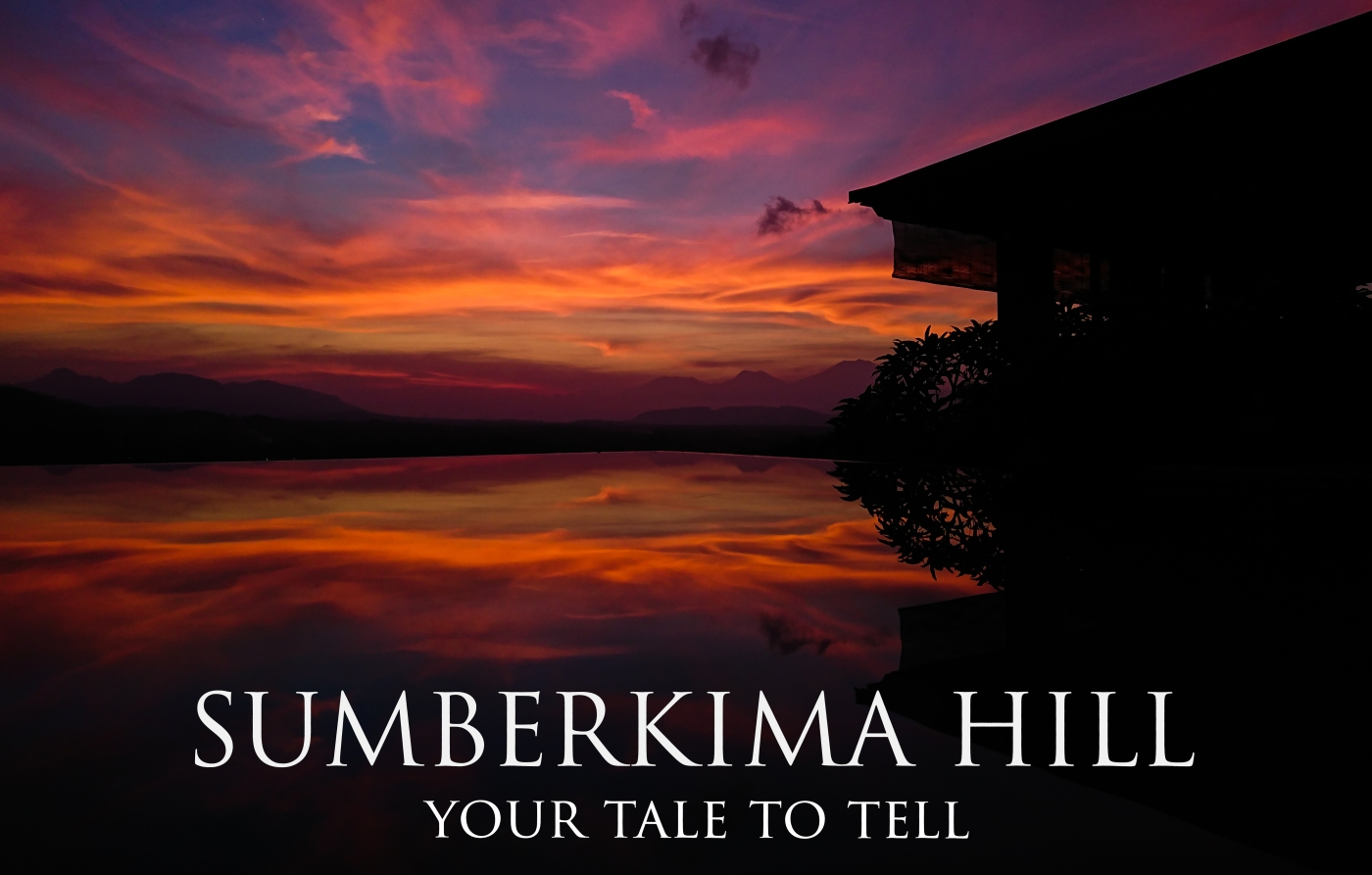 Sumberkima Hill Retreat with an incredibly colourful sunset